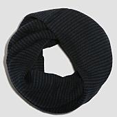 /achat-echarpes-foulards/selected-echarpe-tube-stripe-noir-bleu-roi-155795.html