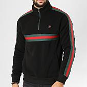/achat-sweats-col-zippe/south-pole-sweat-col-zippe-avec-bandes-18321-1514-noir-155819.html