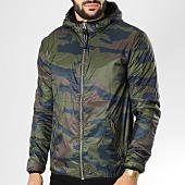 /achat-vestes/le-temps-des-cerises-veste-zippee-capuche-tom-vert-kaki-camouflage-156041.html