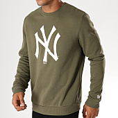 /achat-sweats-col-rond-crewneck/new-era-sweat-crewneck-team-logo-new-york-yankees-11863702-vert-kaki-blanc-155950.html