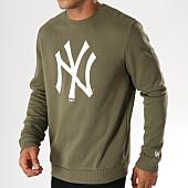 /achat-sweats-col-rond-crewneck/new-era-sweat-crewneck-team-logo-new-york-yankees-11863702-vert-kaki-blanc-155950.html