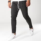 /achat-pantalons-carreaux/classic-series-pantalon-raye-b-5-noir-blanc-156203.html