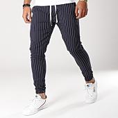 /achat-pantalons-carreaux/classic-series-pantalon-raye-a-5-bleu-marine-blanc-156204.html