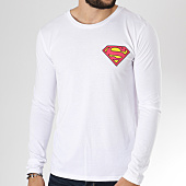 /achat-t-shirts-manches-longues/superman-tee-shirt-manches-longues-classic-logo-back-blanc-156252.html