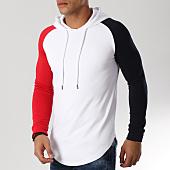 /achat-sweats-capuche/lbo-sweat-capuche-oversize-raglan-tricolore-520-blanc-bleu-marine-rouge-156321.html