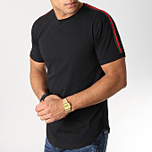 /achat-t-shirts-longs-oversize/lbo-tee-shirt-oversize-avec-bandes-noir-et-rouge-527-noir-156332.html