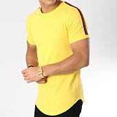/achat-t-shirts-longs-oversize/lbo-tee-shirt-oversize-avec-bandes-noir-et-rouge-528-jaune-156334.html