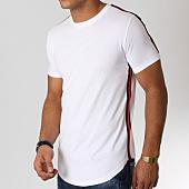 /achat-t-shirts-longs-oversize/lbo-tee-shirt-oversize-avec-bandes-cotes-noir-et-rouge-526-blanc-156353.html