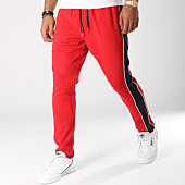 /achat-pantalons-carreaux/selected-pantalon-avec-bandes-nicki-rouge-bleu-marine-156448.html