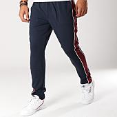 /achat-pantalons-carreaux/selected-pantalon-avec-bandes-nicki-bleu-marine-bordeaux-156449.html