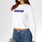 /achat-t-shirts-manches-longues/calvin-klein-tee-shirt-crop-manches-longues-femme-institutional-box-8880-blanc-156658.html