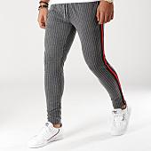 /achat-pantalons-carreaux/classic-series-pantalon-raye-avec-bandes-2218-gris-anthracite-rouge-noir-156537.html