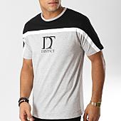 /achat-t-shirts/distinct-tee-shirt-bicolore-gris-chine-noir-156549.html