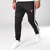 /achat-pantalons-joggings/distinct-pantalon-jogging-avec-bandes-classic-noir-156555.html