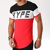 /achat-t-shirts-longs-oversize/john-h-tee-shirt-oversize-1895-rouge-noir-blanc-156491.html