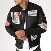 /achat-bombers/classic-series-bomber-patchs-brodes-mz8096-noir-156751.html