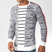 /achat-pulls/classic-series-pull-avec-bandes-ad020-blanc-noir-chine-156789.html