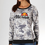 /achat-sweats-col-rond-crewneck/ellesse-sweat-crewneck-femme-1076-zip-gris-camouflage-156779.html
