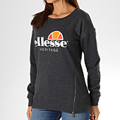 /achat-sweats-col-rond-crewneck/ellesse-sweat-crewneck-femme-1076-zip-gris-anthracite-chine-156781.html