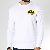 /achat-sweats-col-rond-crewneck/batman-sweat-crewneck-classic-logo-back-blanc-156988.html