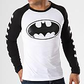 /achat-t-shirts-manches-longues/batman-tee-shirt-manches-longues-raglan-logos-noir-156989.html