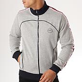 /achat-vestes/la-maison-blaggio-veste-zippee-bandes-brodees-atekla-gris-chine-blanc-bleu-marine-156893.html