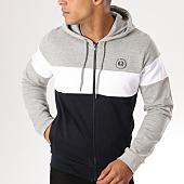 /achat-sweats-zippes-capuche/la-maison-blaggio-sweat-zippe-capuche-apola-noir-gris-chine-blanc-156903.html