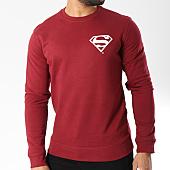 /achat-sweats-col-rond-crewneck/superman-sweat-crewneck-back-logo-bordeaux-156992.html