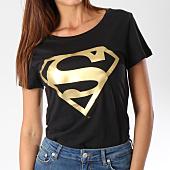 /achat-t-shirts/superman-tee-shirt-femme-gold-logo-noir-dore-156999.html
