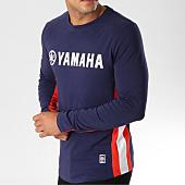/achat-t-shirts-manches-longues/yamaha-tee-shirt-manches-longues-avec-bandes-long-bleu-marine-blanc-rouge-156969.html