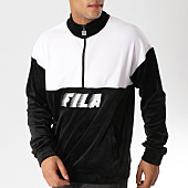 /achat-sweats-col-zippe/fila-sweat-velours-avec-col-zippe-easton-684330-noir-blanc-157243.html