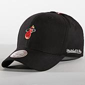 /achat-casquettes-de-baseball/mitchell-and-ness-casquette-miami-heat-intl246-noir-157199.html