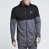 /achat-vestes/siksilk-veste-zippee-capuche-oversize-ultra-zip-13135-gris-noir-157218.html
