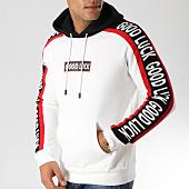 /achat-sweats-capuche/john-h-sweat-capuche-9100-blanc-noir-rouge-157315.html