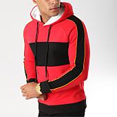 /achat-sweats-capuche/john-h-sweat-capuche-avec-bandes-998-rouge-noir-jaune-157320.html