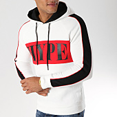 /achat-sweats-capuche/john-h-sweat-capuche-avec-bandes-998-1-blanc-noir-rouge-157327.html