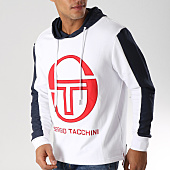 /achat-sweats-capuche/sergio-tacchini-sweat-capuche-avec-bandes-image-blanc-bleu-marine-157300.html