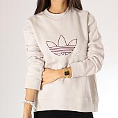 /achat-sweats-col-rond-crewneck/adidas-sweat-crewneck-femme-clrdo-dh3012-beige-157505.html