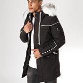 /achat-parkas/comme-des-loups-parka-fourrure-poche-bomber-f1801-noir-blanc-157493.html