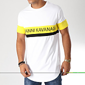 /achat-t-shirts-longs-oversize/gianni-kavanagh-tee-shirt-oversize-block-blanc-jaune-noir-157500.html