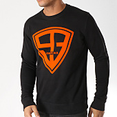 /achat-sweats-col-rond-crewneck/93-empire-sweat-crewneck-93-empire-noir-orange-157778.html