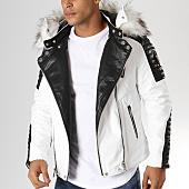 /achat-vestes-biker/adw-58-veste-biker-fourrure-mz8070-blanc-noir-blanc-157680.html