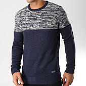/achat-pulls/brave-soul-pull-roland-bleu-marine-gris-chine-157620.html