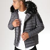 /achat-doudounes/comme-des-loups-doudoune-fourrure-f1837-gris-noir-gris-157560.html