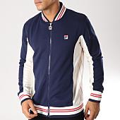 /achat-vestes/fila-veste-zippee-settanta-bleu-marine-ecru-rouge-157565.html
