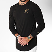 /achat-t-shirts-manches-longues/final-club-tee-shirt-manches-longues-oversize-gold-label-avec-broderie-or-101-noir-157795.html
