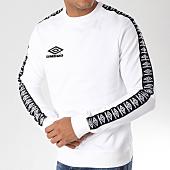 /achat-sweats-col-rond-crewneck/umbro-sweat-crewneck-avec-bandes-street-687980-60-blanc-157580.html