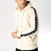 /achat-sweats-zippes-capuche/wrung-sweat-zippe-capuche-bandes-brodees-ross-beige-157801.html