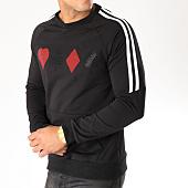 /achat-sweats-col-rond-crewneck/john-h-sweat-crewneck-bandes-brodees-9113-noir-blanc-157879.html