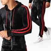 /achat-ensembles-survetement/john-h-ensemble-de-survetement-velours-avec-bandes-ab50-noir-rouge-157914.html